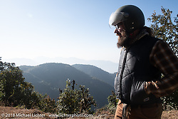 Bear Haughton on day-2 of our Himalayan Heroes adventure riding from Daman to Chitwan, Nepal. Wednesday, November 7, 2018. Photography ©2018 Michael Lichter.