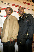 """T.I. and DJ Toomp at The Hip Hop Research and Education Fund(HREF), PowerPAC and the HipHop Summit Action Network (HSAN) present the national """"HipHop Team Vote: Turn Up the Vote"""" campaign event held at Temple University's Liacouras Center Arena on April 20, 2008 ..The HipHop Team Voe: Turn up the Vote brings together hiphop stars and community activists to send a strong, clear message to 18-35 year olds about the importance of voting in the Pennsylvania primary and national presidential election."""