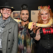 David Anthony, Mr Fabulous - Jay Kamiraz and Kelly Wild attend BBC1 All Together Now Series 1 Cast Members, fright night at The London Bridge Experience & London Tombs on 28 October 2018, London, UK.
