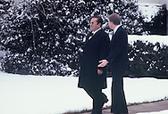 President Carter walking Marshal Tito from the Oval Office to his lime  on March 9, 1978<br /> Photo by Dennis Brack