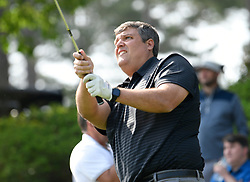 Ole Miss head football coach Matt Luke during the Chick-fil-A Peach Bowl Challenge Closest to the Pin Skills Competition at the Ritz Carlton Reynolds, Lake Oconee, on Monday, April 29, 2019, in Greensboro, GA. (Dale Zanine via Abell Images for Chick-fil-A Peach Bowl Challenge)