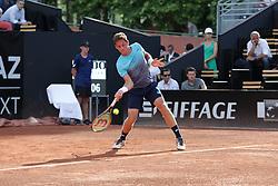 May 22, 2018 - Lyon, France - CARBALLES BAENA ROBERTO DURING THE MATCH FOR  ATP 250 IN LYON 22.05.2018 (Credit Image: © Panoramic via ZUMA Press)