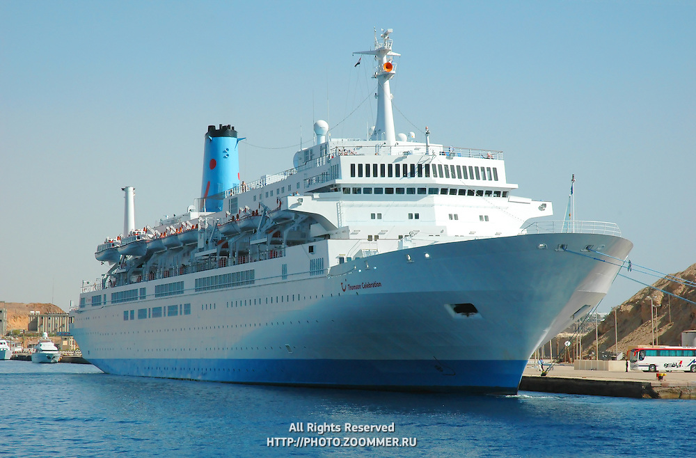 Cruise liner in Red Sea near Sharm El Sheikh, Egypt