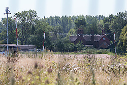 The rear of Dews Farm is seen on 31st July 2020 in Harefield, United Kingdom. Anne and Ron Ryall, 73 and 72, are expected to be evicted from Dews Farm by HS2 Ltd on 31st July following the compulsory purchase of their £1m property which they had spent nine years and their life savings renovating.