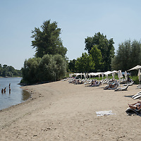 First river public beach opened on the bank of river Danube close to downtown in Budapest, Hungary on July 7, 2021. ATTILA VOLGYI