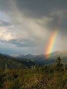 Rainbow over Denali National Park