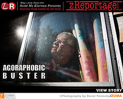Story of the Week : Launched Wednesday May 1, 2019 on www.zReportage.com Story #701: AGORAPHOBIC Buster. Some people stop going into situations because of a fear of being overwhelmed by anxiety and not being able to escape or get help. Buster Burns, a former drag queen, has 8 personalities and has not left his house for the past 9 years. Buster suffers from agoraphobia. 'Facebook is my whole life,' he stated of the social media platform, which allows him to interact with others without leaving the security of his home. Those who suffer from this debilitating disorder typically avoid places where they feel immediate escape might be difficult, such as shopping malls, public transportation, and open places. Agoraphobia is particularly common in people with panic disorders. Their world may become smaller as they are constantly on guard, waiting for the next panic attack. Buster Burns lives in Little Rock, Arkansas and used to be as extroverted as they come, once a successful drag queen, he would walk the stage as Ophelia every week in a crowded club. After the sudden death of a friend in 2000, Buster started slowly to retreat from public life. Today Buster spends his days with a supportive Facebook community, chatting for up to 10 hours a day. His sister visits him once a week to bring groceries and anything he might need from the outside world. Agoraphobia currently affects over 200,000 people in the United States. This debilitating condition is chronic, and those affected are often unable to leave their house because they need to avoid people and places that cause anxiety. (Credit Image: ? David Tesinsky/ZUMA Wire)