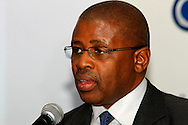 DURBAN - 19 April 2016 - Terence Nombembe, the chief executive of the South African Institute of Chartered Accountants, speaks at the launch of a training programme to have accountants do their article in the KwaZulu-Natal provincial treasury. Nombembe was the first African to hold the position of Auditor General in the country from 2006 to 2013. Picture: Allied Picture Press/APP