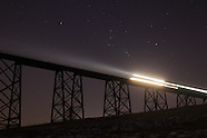 Moodna Viaduct at night