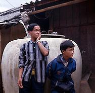 Young Boys with haircut outside Sapa, Vietnam.