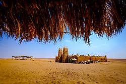 Cafe in Lake Iriki in the Moroccan Sahara, Souss-Massa territory, Morocco<br /> <br /> (c) Andrew Wilson | Edinburgh Elite media