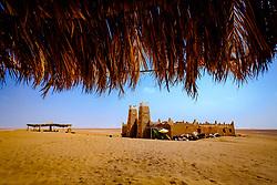 Cafe in Lake Iriki in the Moroccan Sahara, Souss-Massa territory, Morocco<br /> <br /> (c) Andrew Wilson   Edinburgh Elite media