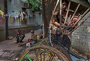 Rickshaw wallah, Ballygunge district, Calcutta, West Bengal