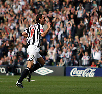 Photo: Mark Stephenson.<br /> West Bromwich Albion v Queens Park Rangers. Coca Cola Championship. 30/09/2007.West Brom's Jonathan Greening celebrates his goal and  West Brom's 5th