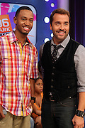 l to r:  Terrence J and Jeremy Pivens at BET's 106 & Park promotion of Jeremy Pivens' new film ' The Goods' on August 6, 2009 in New York City