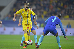 November 14, 2017 - Bucharest, Romania - Romania's Eric Bicfalvi vs Netherlands's Virgil during International Friendly match between Romania and Netherlands at National Arena Stadium in Bucharest, Romania, on 14 november 2017. (Credit Image: © Alex Nicodim/NurPhoto via ZUMA Press)
