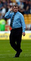 Photo. Jed Wee, Digitalsport<br /> NORWAY ONLY<br /> <br /> Wolverhampton Wanderers v Tottenham Hotspurs, FA Barclaycard Premiership, 15/05/2004.<br /> Spurs' caretaker boss David Pleat ponders the future.