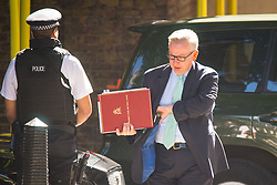 Environment Secretary Michael Gove arrives at 10 Downing Street in London for a Cabinet meeting.