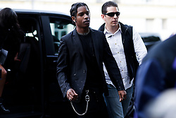 Street style, ASAP Rocky arriving at Alyx Spring-Summer 2019 menswear show held at Bercy Popb, in Paris, France, on June 24th, 2018. Photo by Marie-Paola Bertrand-Hillion/ABACAPRESS.COM