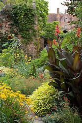 Canna in the Cottage Garden at Sissinghurst Castle