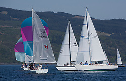 Sailing - SCOTLAND  - 25th-28th May 2018<br /> <br /> The Scottish Series 2018, organised by the  Clyde Cruising Club, <br /> <br /> First days racing on Loch Fyne.<br /> <br /> One design fleet with GBR7003N, Valhalla, Andrew lawrie, PEYC<br /> <br /> 2481C, Orwell Lass, Alistair N Gay, KOBSC, Nicholson 35<br /> <br /> Credit : Marc Turner<br /> <br /> <br /> Event is supported by Helly Hansen, Luddon, Silvers Marine, Tunnocks, Hempel and Argyll & Bute Council along with Bowmore, The Botanist and The Botanist