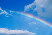 Rainbow in clouds and sky