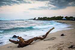 Kohanaiki Beach sunrise. This little state park beach as just north of Kona, great surfing and camping.