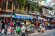 Street scene in Hanoi, Vietnam.