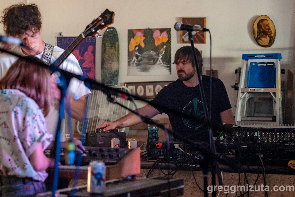 Eric Gilbert with Thick Business at The Garden City Projects in Garden City, Idaho on June 25, 2018.<br /> <br /> Performances by Thick Business, Slow Pulp, and Post Animal.<br /> <br /> Thick Business members: Sarah Pincock (vocals, keys), Michael Mitchell (drums), Daniel Kerr (vocals, bass), and Frankie Tillo (vocals, guitar). Hometown: Boise, Idaho.