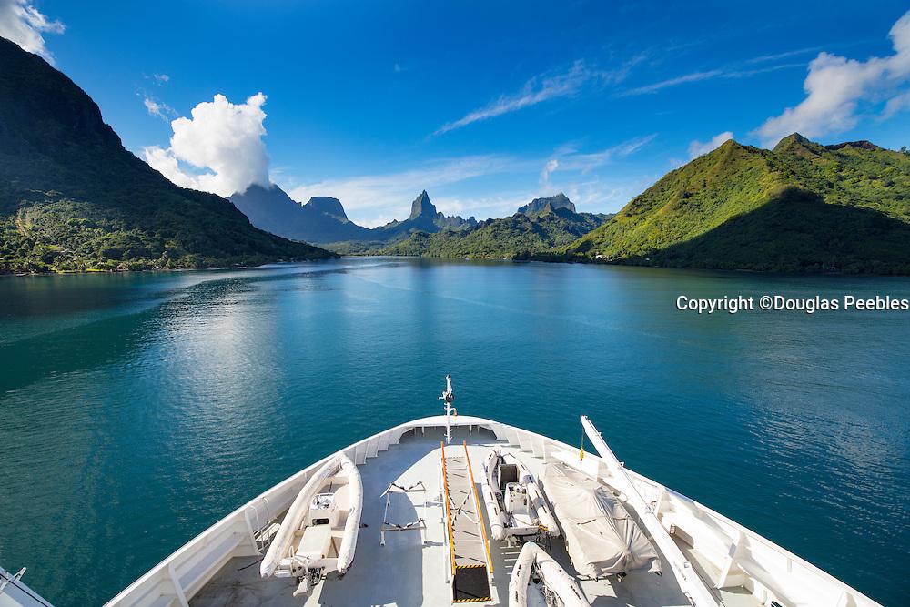 Paul Gauguin Cruise Ship, Opunohu Bay, Moorea, French Polynesia