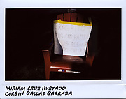 A sign is placed on a chair for the memory of Miriam Cruz Hurtado, 31-year-old, and her son Corbin Dallas Barraza, 4-year-old, in the 1700 block of North Mannheim in Stone Park, Illinois, in this photo taken September 24, 2017. Hurtado and Barraza were both strangled and stabbed to death at their home on September 21, 2017.  Daniel Barraza, 32-year-old, has been charged with two counts of first-degree murder.