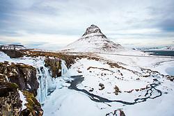 Winter scene in Kirkjufell, Iceland. 08/01/16. Photo by Andrew Tallon