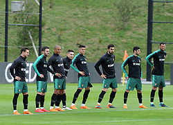 March 20, 2018 - Na - Oeiras, 03/20/2018 - The National Team AA trained this morning with a view to preparing for the 2018 World Cup in the City of Soccer in Oeiras. Cédric, Bernardo Silva, João Mário, Raphel Guerreiro, João Cancelo, André Gomes, Gonçalo Guedes, Rolando  (Credit Image: © Atlantico Press via ZUMA Wire)