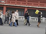 group tourism at the Asakusa Kannon Temple Tokyo