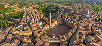 Aerial view of Siena historical town, Italy