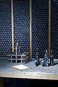 old bottles in the cellar quinta do seixo sandeman douro portugal