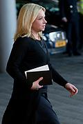 Nationale Herdenking voor de slachtoffers van vlucht MH17 in de RAI , Amsterdam.Vertrek van de gasten na afloop van de bijeenkomst<br /> <br /> National Memorial for the victims of flight MH17 in the RAI, Amsterdam.VThe guests leave after the meeting<br /> <br /> Op de foto / On the photo: Minister Jeanine Hennis-Plasschaert van Defensie