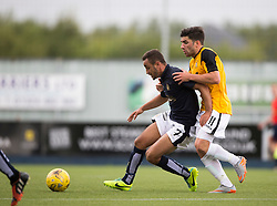 Falkirk's Tom Taiwo and East Fife's Kyle Wilkie. Falkirk 3 v 1 East Fife, Petrofac Training Cup played 25th July 2015 at The Falkirk Stadium.