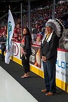 REGINA, SK - MAY 20: First Nations chief at the Brandt Centre on May 20, 2018 in Regina, Canada. (Photo by Marissa Baecker/CHL Images)