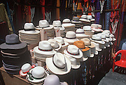 ECUADOR, MARKETS, CRAFTS Otavalo, traditional panama hats