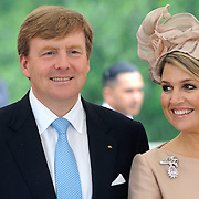 Koning en koningin bezoeken Noordrijn-Westfalen.<br /> Nederlands – Duitse bedrijvenbijeenkomst  bij SchlossMoyland<br /> <br /> King and Queen visit North Rhine-Westphalia.<br /> Dutch - German companies meeting SchlossMoyland<br /> <br /> Op de foto / On the photo:  <br /> <br />  Koning Willem Alexander en Koningin Maxima <br /> <br /> King Willem Alexander and Queen Maxima