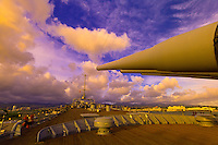 Gun turrets, Battleship Missouri, Ford Island, Pearl Harbor, Honolulu, Oahu, Hawaii, USA