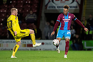 Scunthorpe United forward Kyle Wootton during the The FA Cup 1st round match between Scunthorpe United and Burton Albion at Glanford Park, Scunthorpe, England on 10 November 2018.