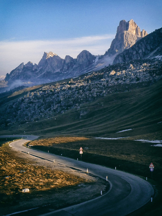 The Dolomites of the Italian Alps are unique and beautiful - and laced with interesting and challenging roads.  This is Passo Giao.