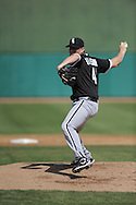 MESA, AZ - MARCH 6:  Daniel Hudson #41 of the Chicago White Sox pitches against the Chicago Cubs on March 6, 2010 at HoHoKam Park in Mesa, Arizona. (Photo by Ron Vesely)