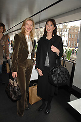 Left to right, LADY HELEN TAYLOR and SAMANTHA CAMERON at a lunch to celebrate the launch of the Top Tips for Girls website (toptips.com) founded by Kate Reardon held at Armani, Brompton Road, London on 5th March 2007.<br />