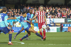 March 9, 2019 - High Wycombe, Buckinghamshire, United Kingdom - Wycombes Domonic Gape wins a defensive challenge during the Sky Bet League 1 match between Wycombe Wanderers and Sunderland at Adams Park, High Wycombe, England  on Saturday 9th March 2019. (Credit Image: © Mi News/NurPhoto via ZUMA Press)