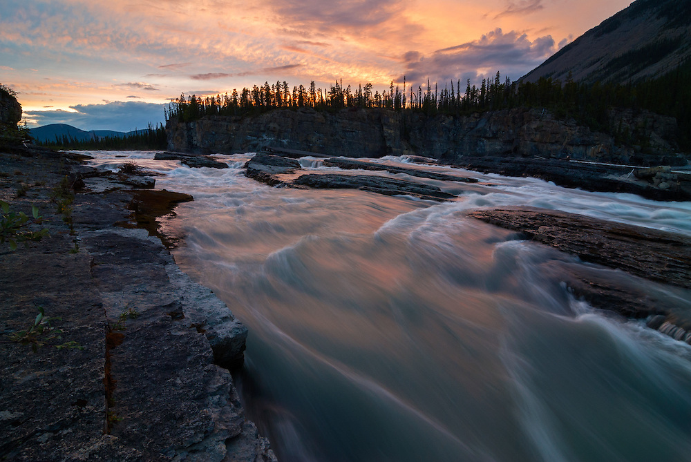Sluice Box Rapid on the Nahanni River in Canada's Northwest Territories.