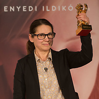 "Movie director Ildiko Enyedi of Hungary attends the press conference of her new Golden Bear winning movie ""On Body and Soul"" in Budapest, Hungary on February 21, 2017. ATTILA VOLGYI"