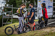 2021 UCI BMXSX World Cup<br /> Round 3 and 4 at Bogota (Colombia)<br /> ^me#201 KENNEDY, Izaac (AUS, ME) <br /> BRADFORD, Joey (USA) Coach<br /> ^me#239 NAKAI, Asuma (JPN, ME) Team_JPN